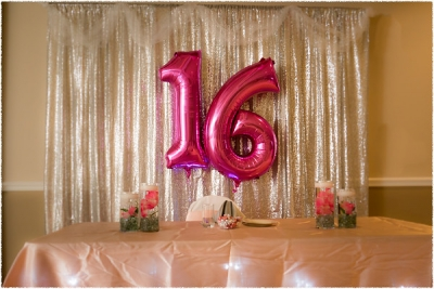 Sweet Sixteen indoor Decor